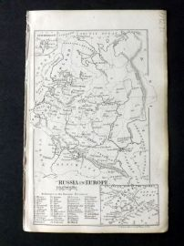 Cornwell & Dower 1849 Antique Map. Russia in Europe